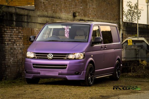 VW T5 Transporter Matte Metallic Purple wrap