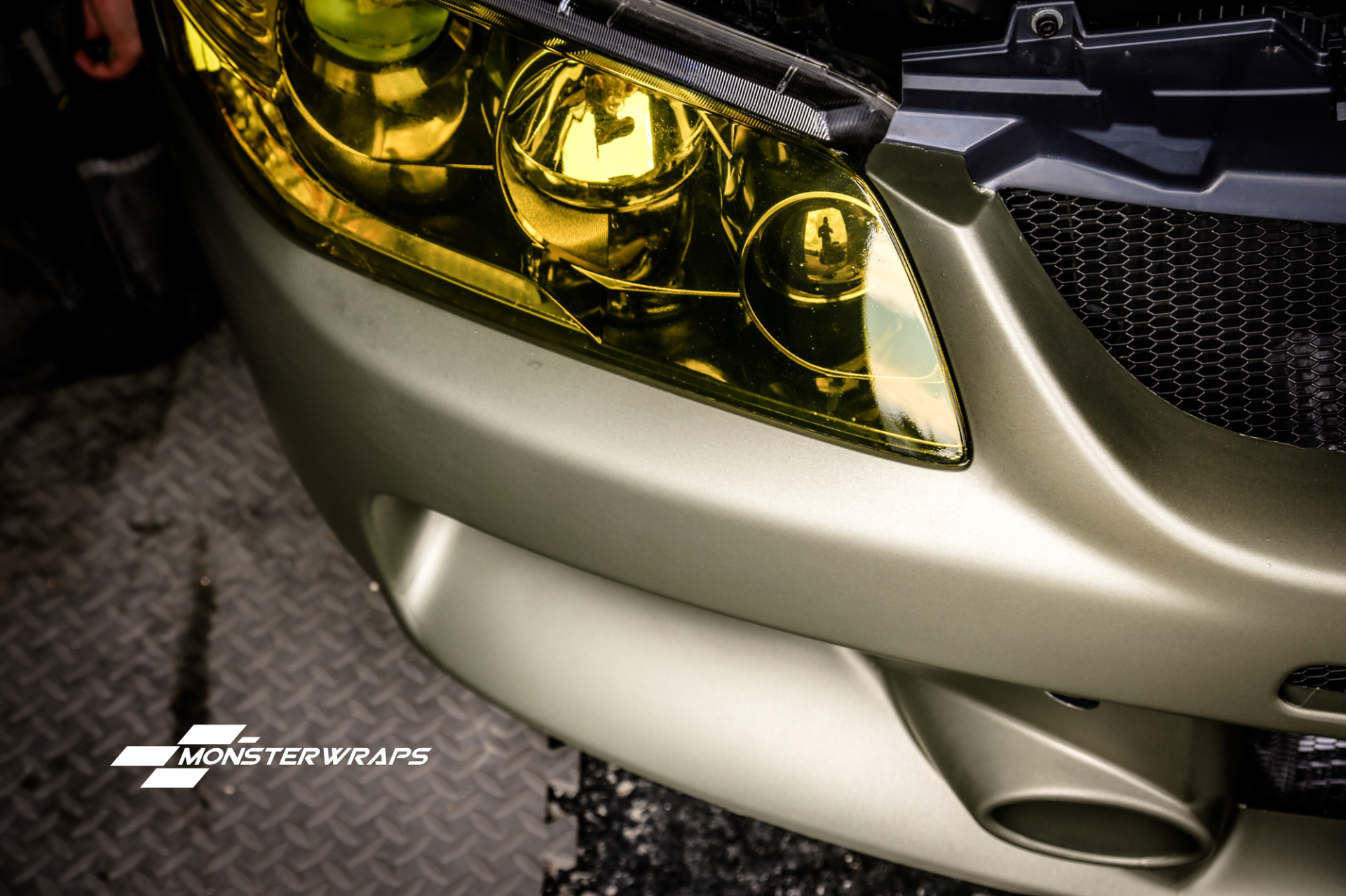 Mitsubishi Evo 9 Midnight Sand Metallic wrap