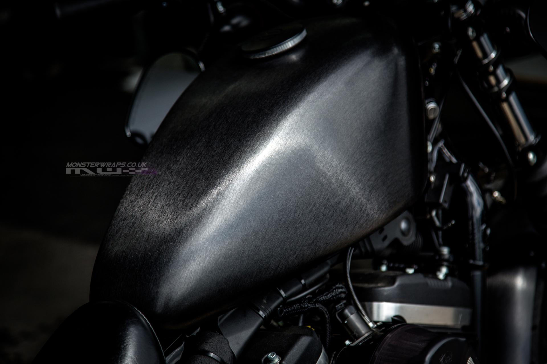 Harley Davidson 883 Black Brushed metallic wrap
