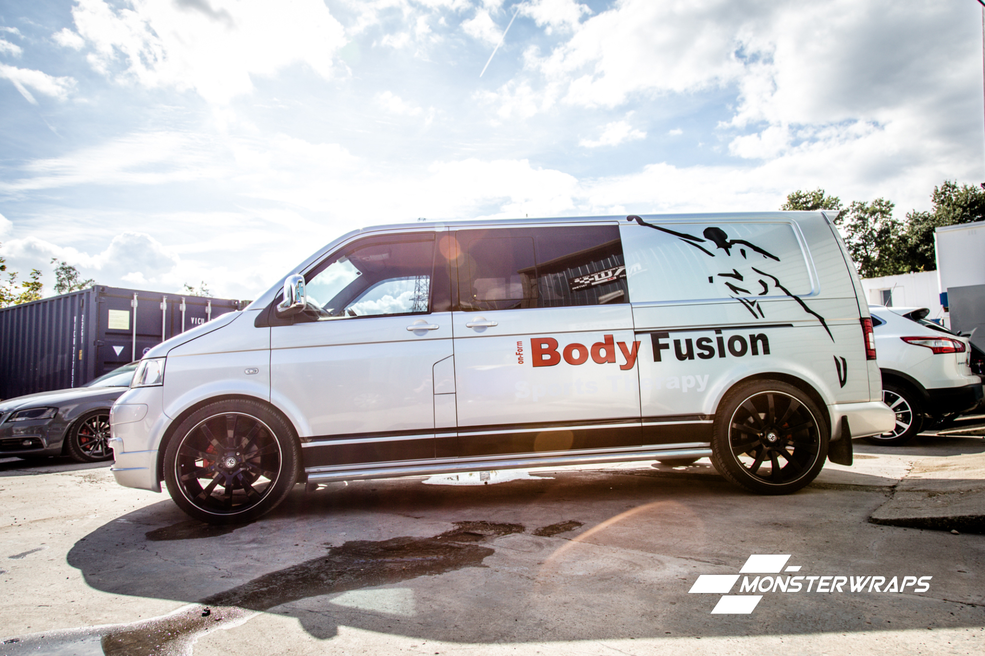 VW T5 Transporter commercial wrap graphics