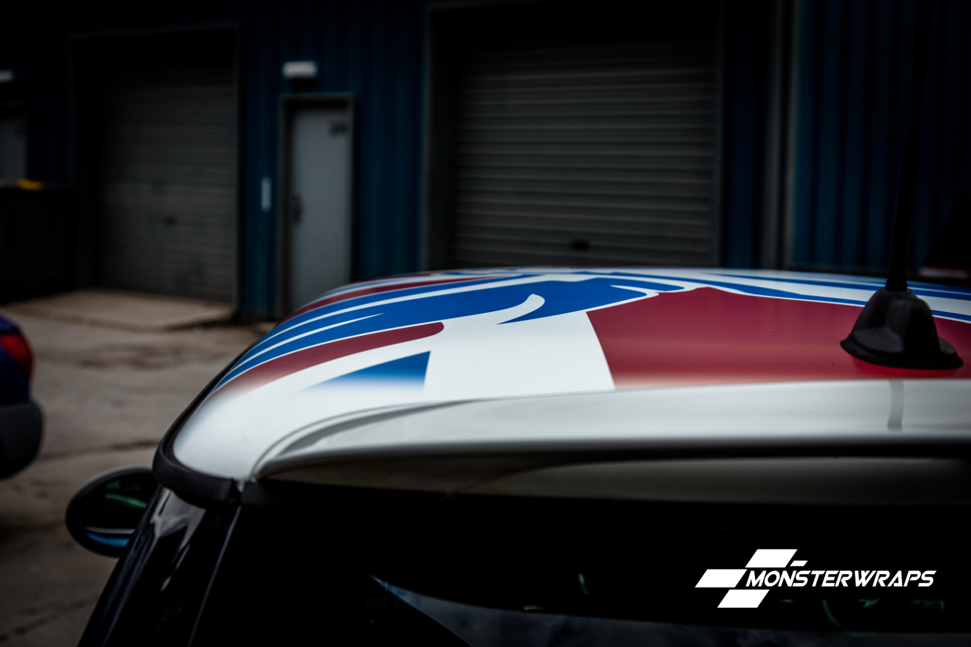 Custom printed Mini Cooper Roof wrap