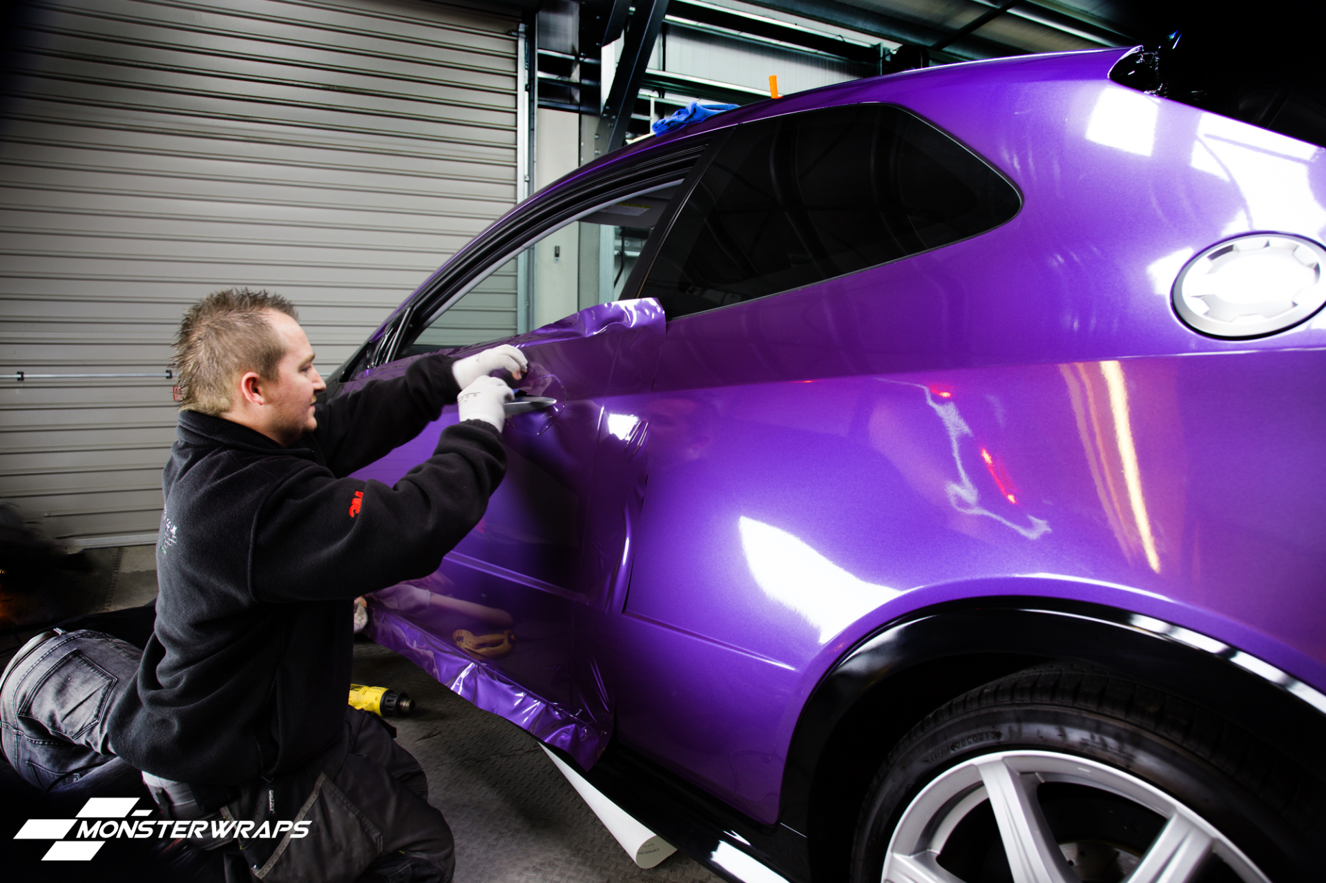 Honda Civic Type R Gloss metallic purple wrap car wrapping southampton uk
