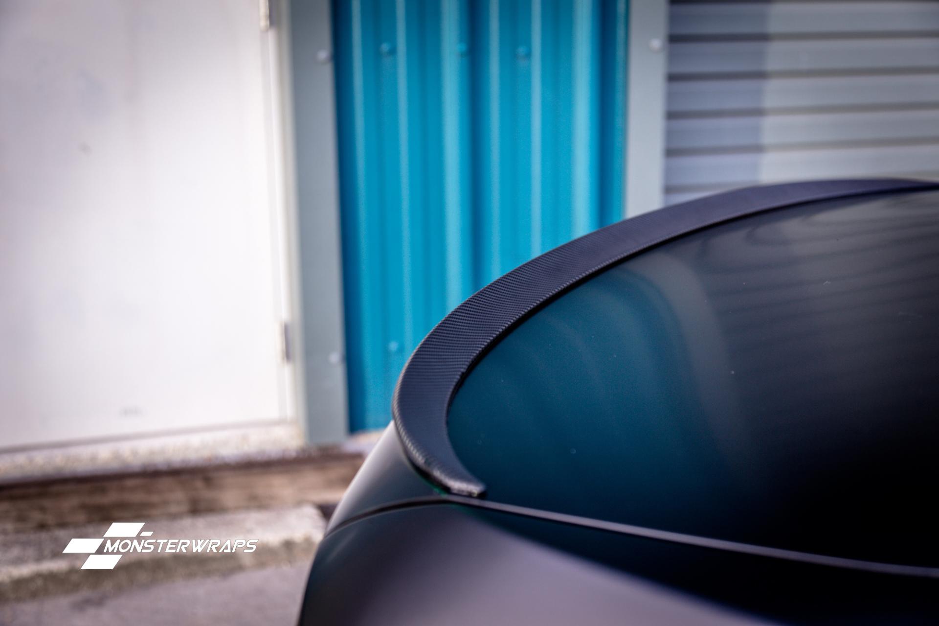 BMW 3 Series e90 Satin black wrap monsterwraps southampton