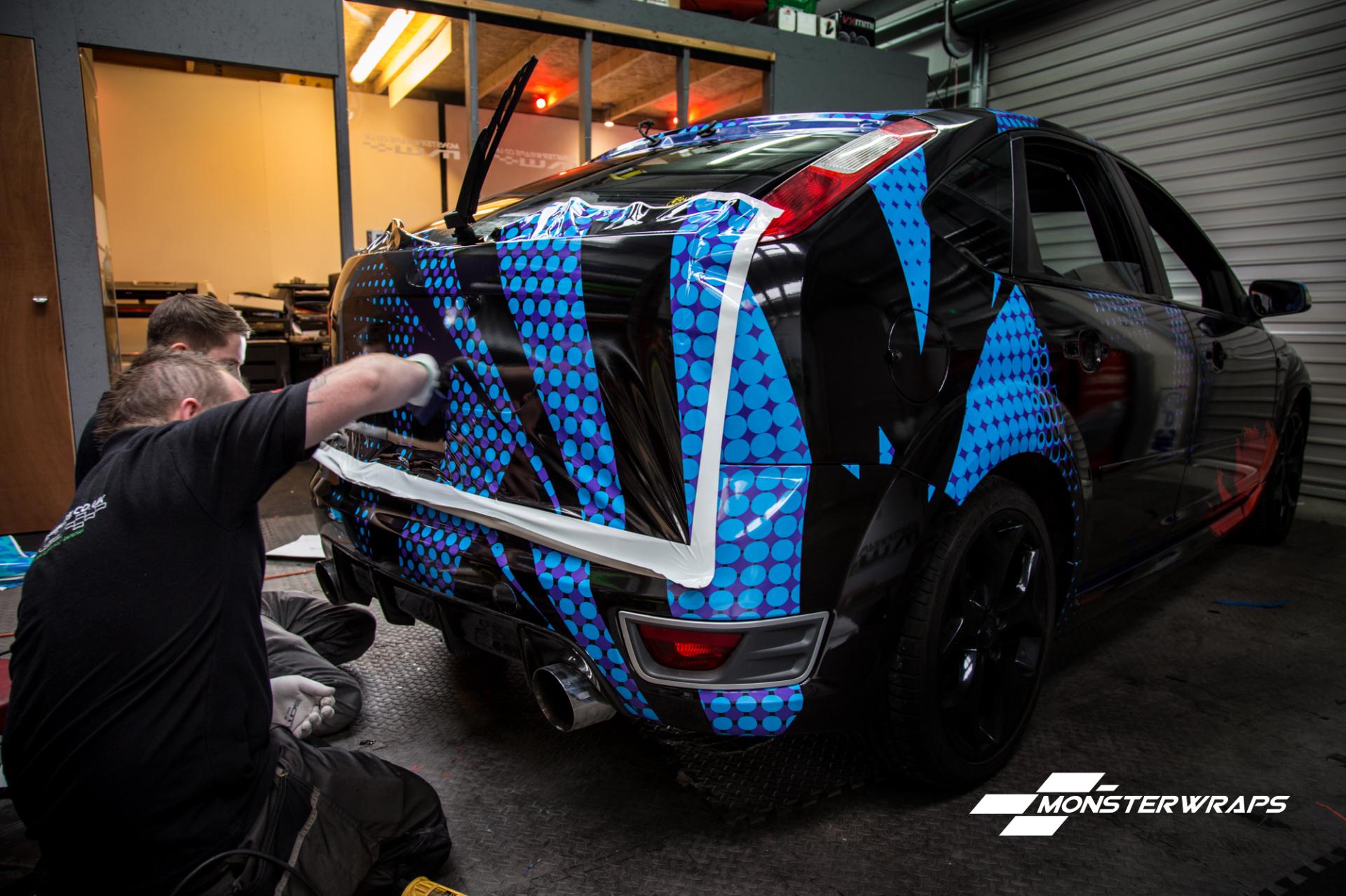 Ford Focus ST WRC Gymkhana printed wrap monsterwraps southampton