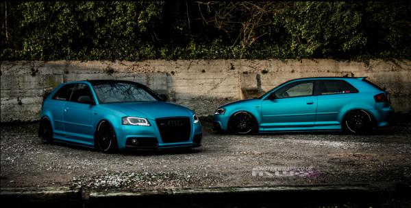 Audi S3 Satin blue ocean shimmer full car wrap southampton uk