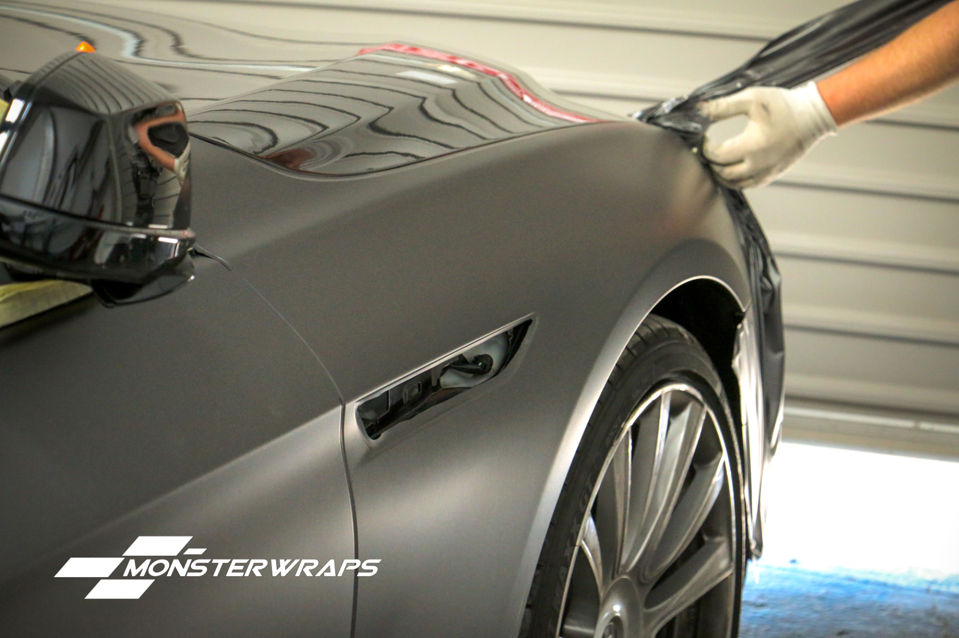 BMW 645i Matte dark grey full car wrap southampton uk