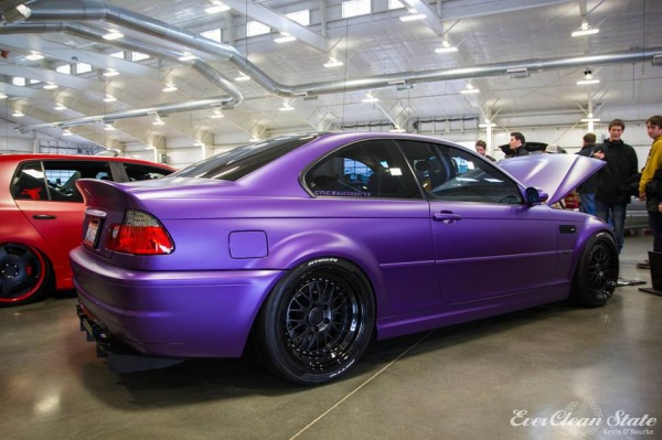 Satin purple metallic car wrap colour