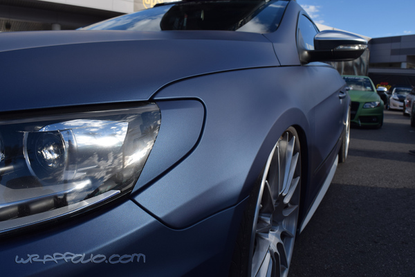 Matte Navy metallic car wrap colour