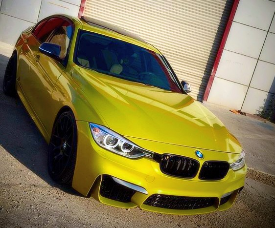 3M Gloss lemon sting car wrap colour