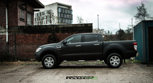 Ford Ranger 2015 Matte black wrap
