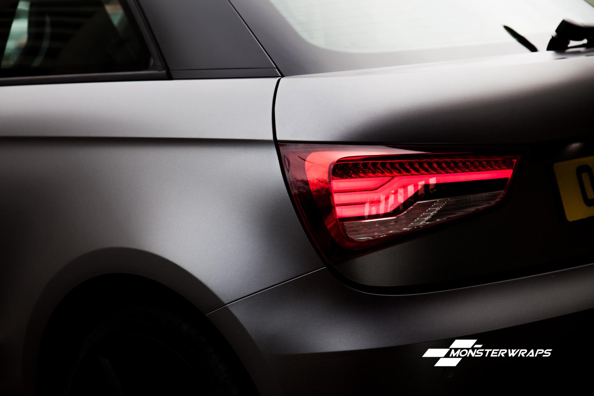 Audi A1 Satin dark grey full car wrap southampton car wraps