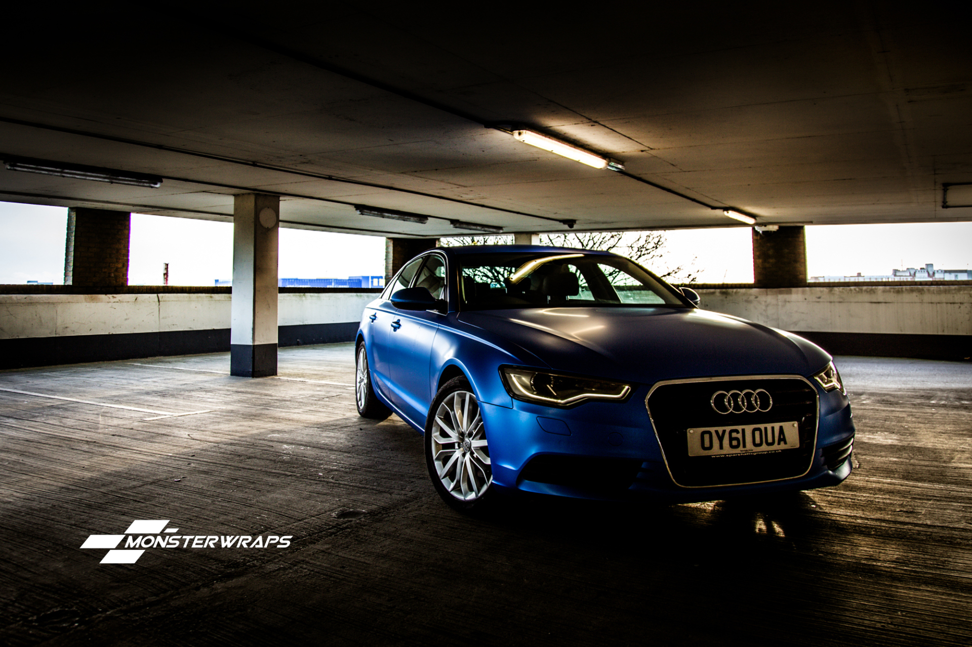 Audi A6 Satin perfect blue full wrap