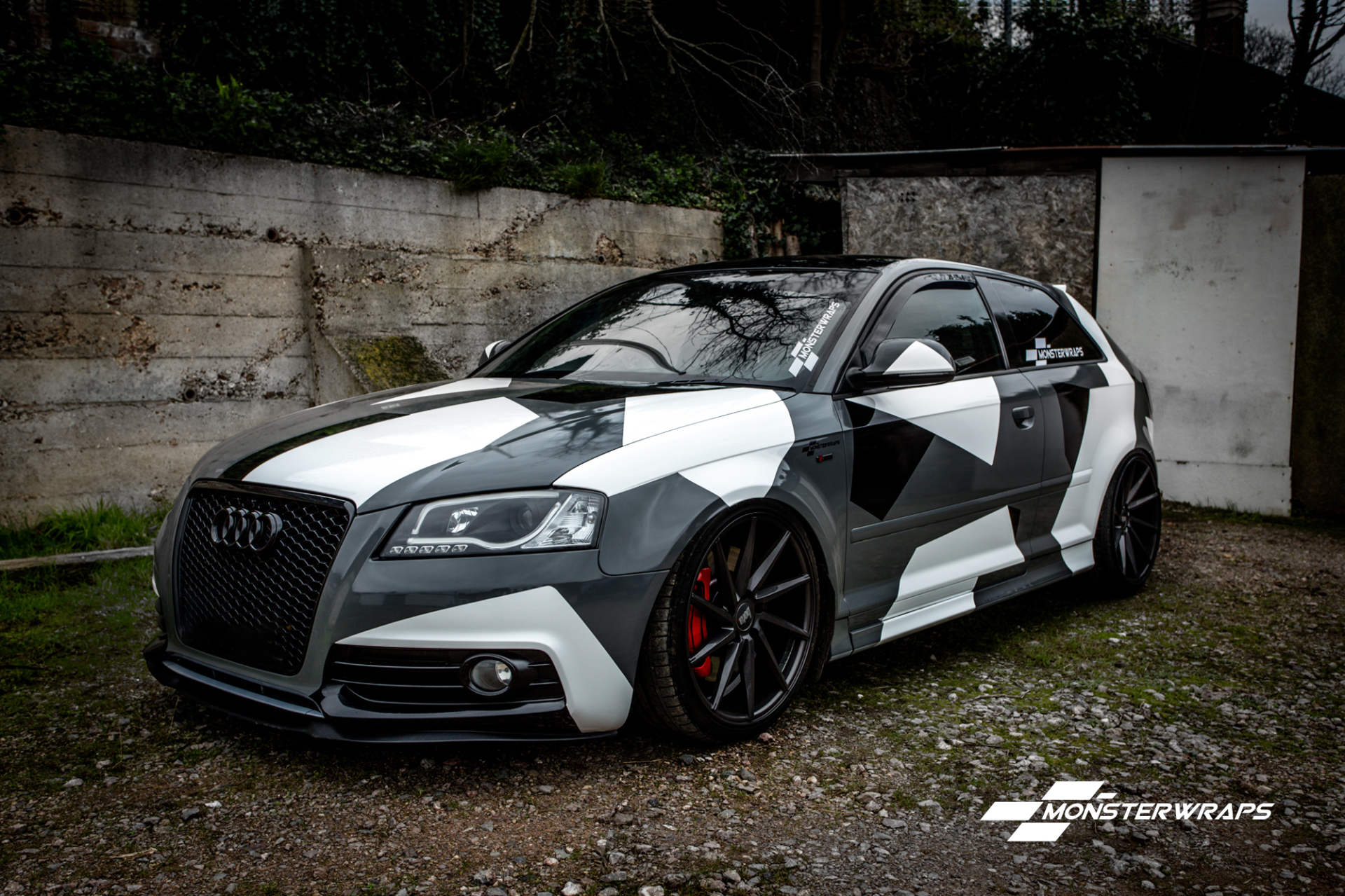 Audi A3 Stealth Grey camo wrap