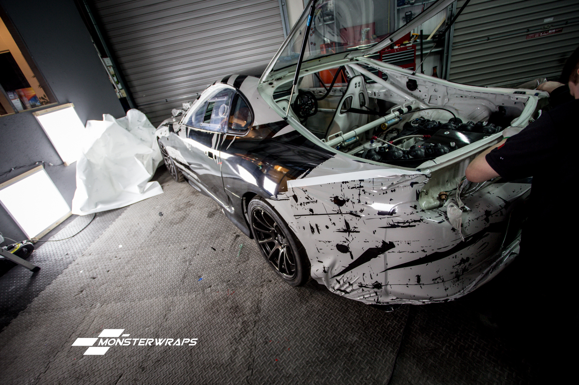 Toyota Supra car wrap southampton hampshire