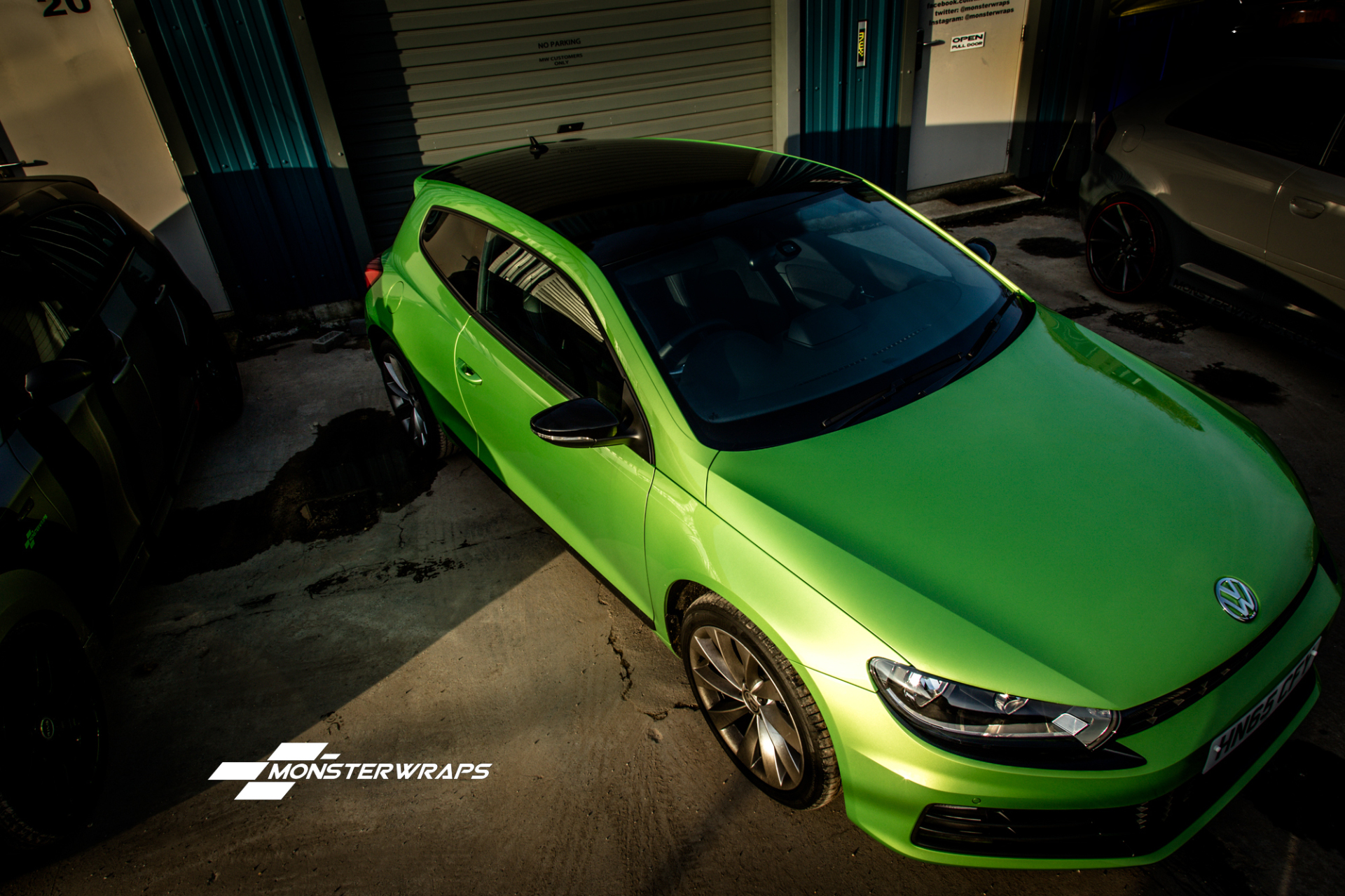 VW Scirocco Gloss black styling wrap, roof, mirrors and grille