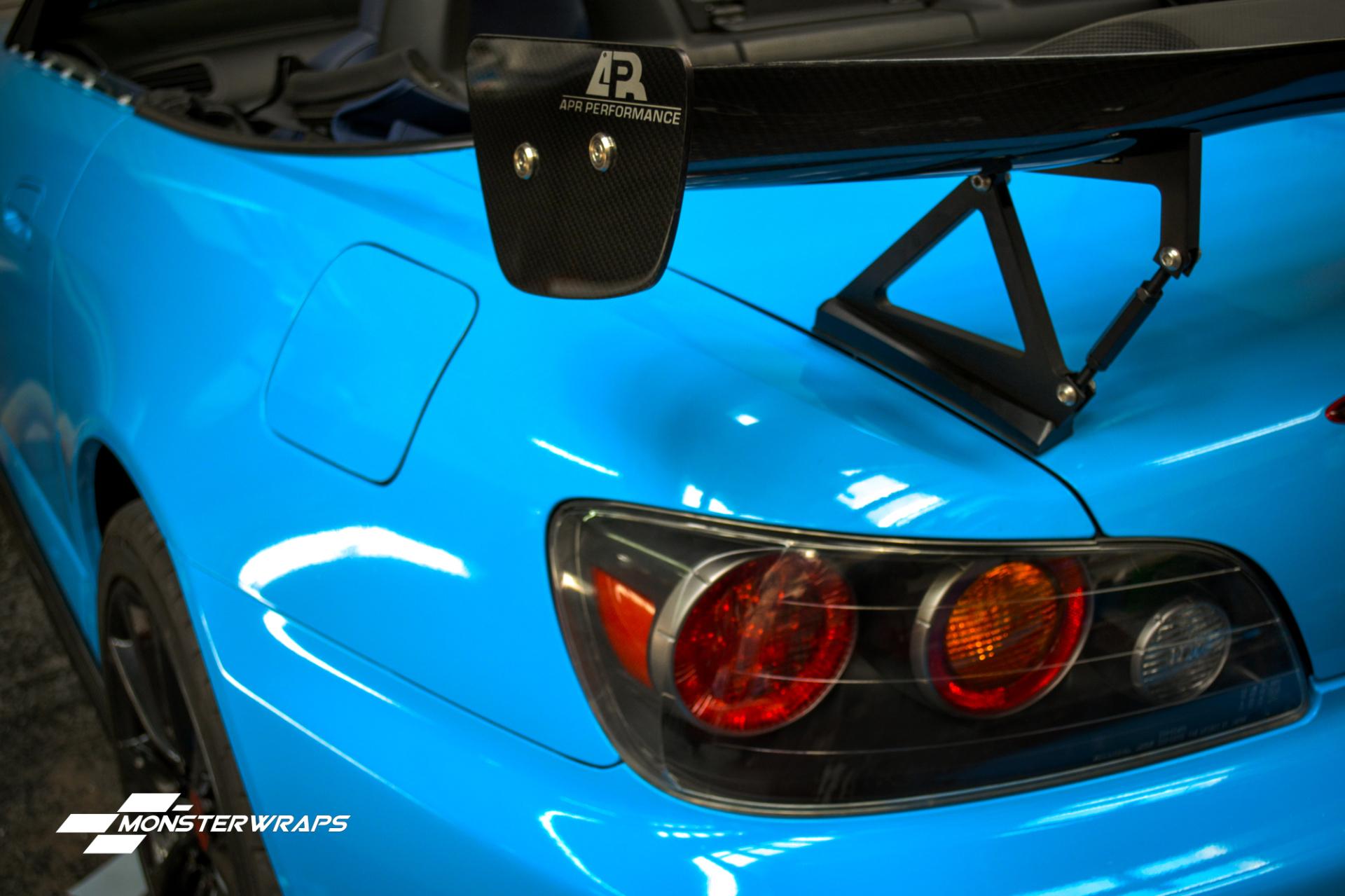 Honda S2000 gloss riviera blue full wrap