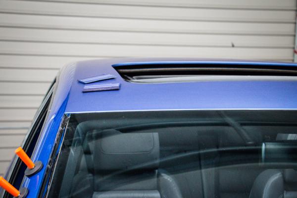 VW Golf R32 Matte metallic blue wrap