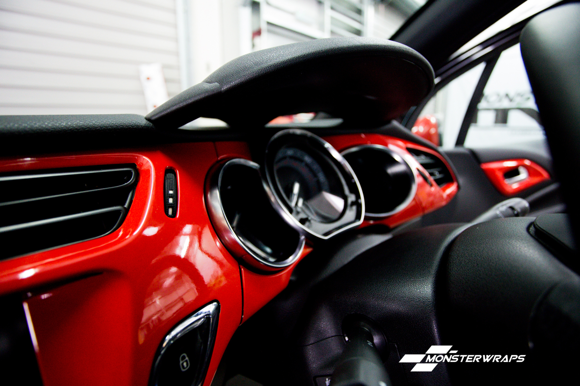 Citroen DS3 interior trim wrap and roof grille mirror wrap