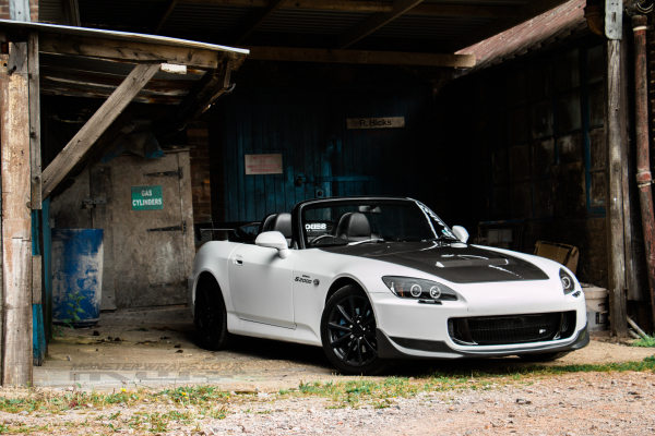 Honda S2000 Satin white wrap