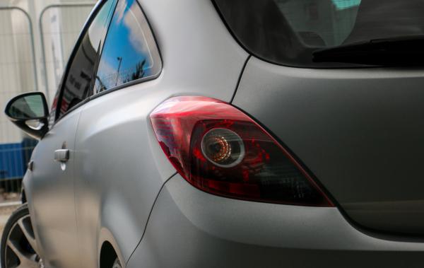 Vauxhall Corsa VXR Matte dark grey wrap