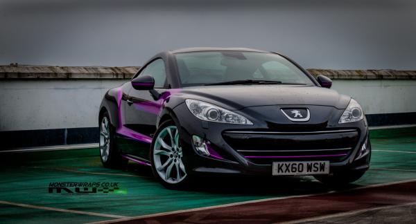 Peugeot RCZ custom graphics designed by Monsterwraps