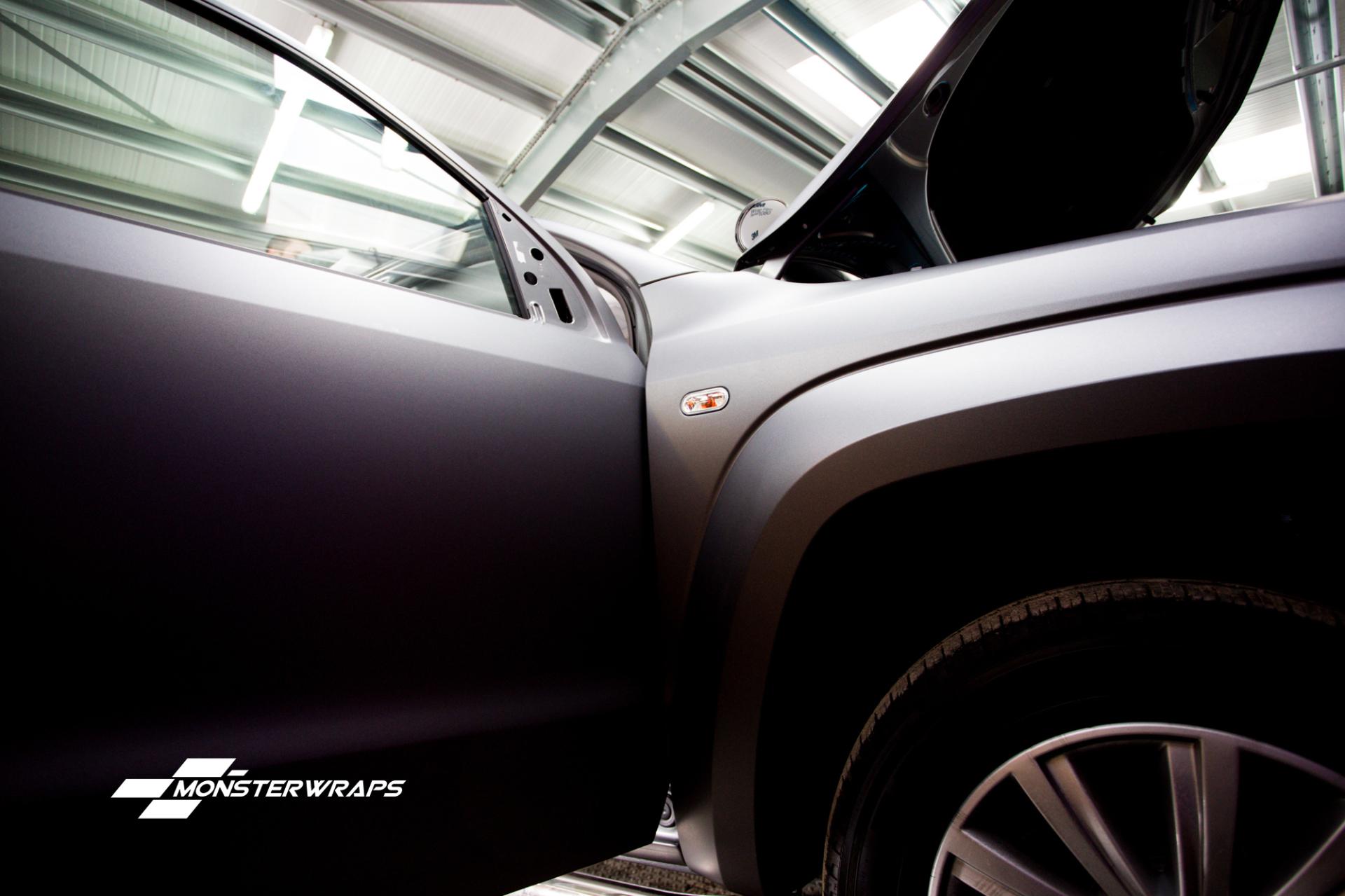 VW Amarok Matte dark grey full wrap
