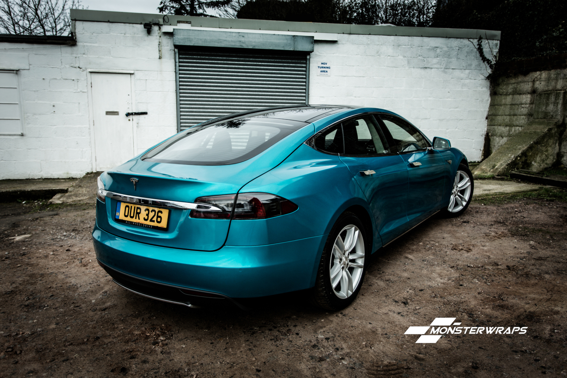 Tesla Model S Custom >> Tesla S Gloss atomic teal wrap