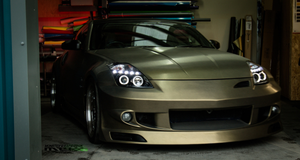 Nissan 350Z Brushed gold full wrap