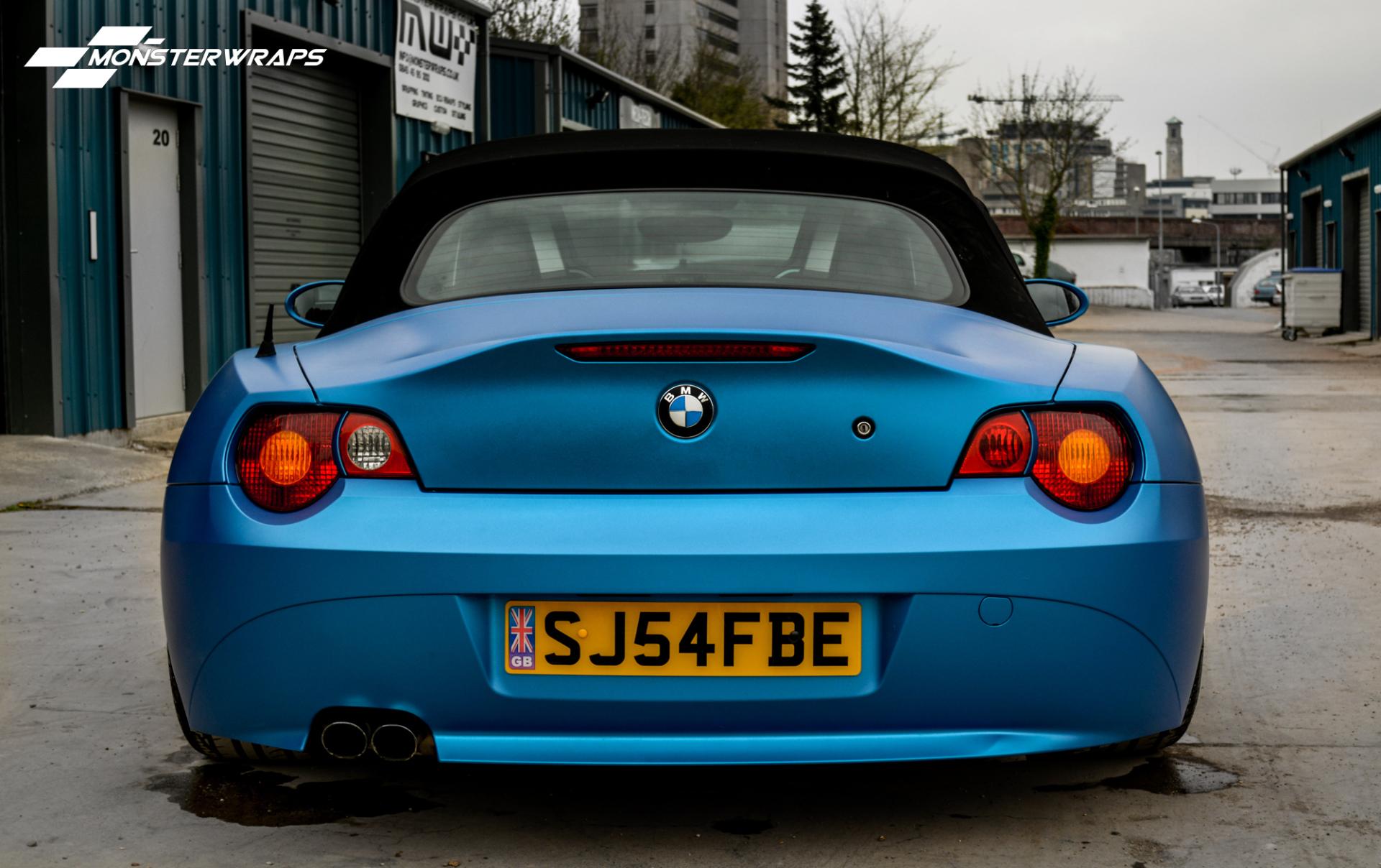 BMW Z4 Matte metallic blue wrap