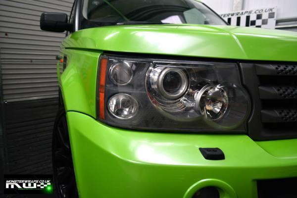 Range Rover Sport pearl green wrap
