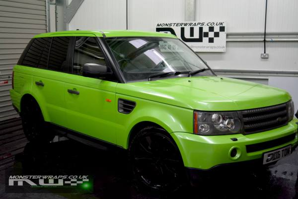 Range Rover Sport pearl green wrap