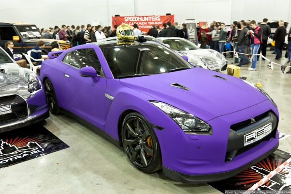 3M Matte purple car wrap colour