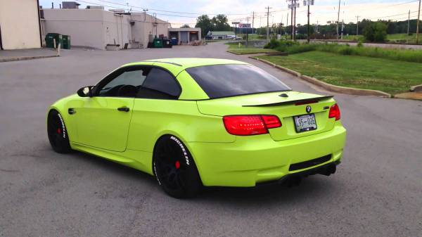 Avery gloss lime green wrap