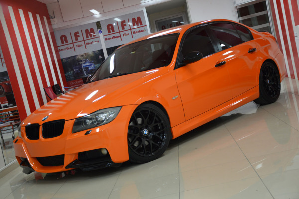 Gloss municipal orange wrap
