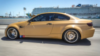 Gold Brushed metal car wrap