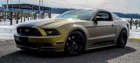Army Gold Brushed metal car wrap