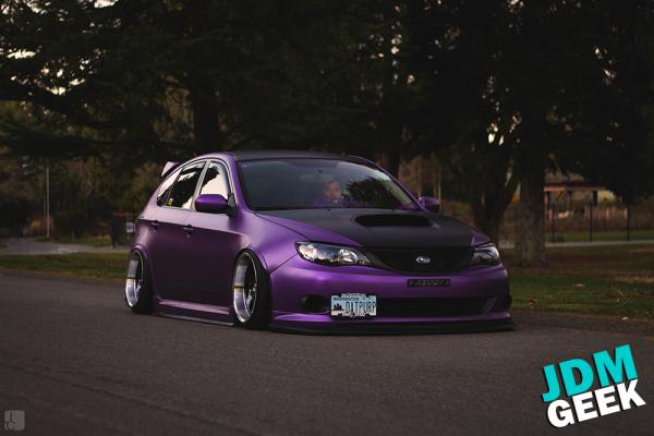 Satin metallic purple wrap