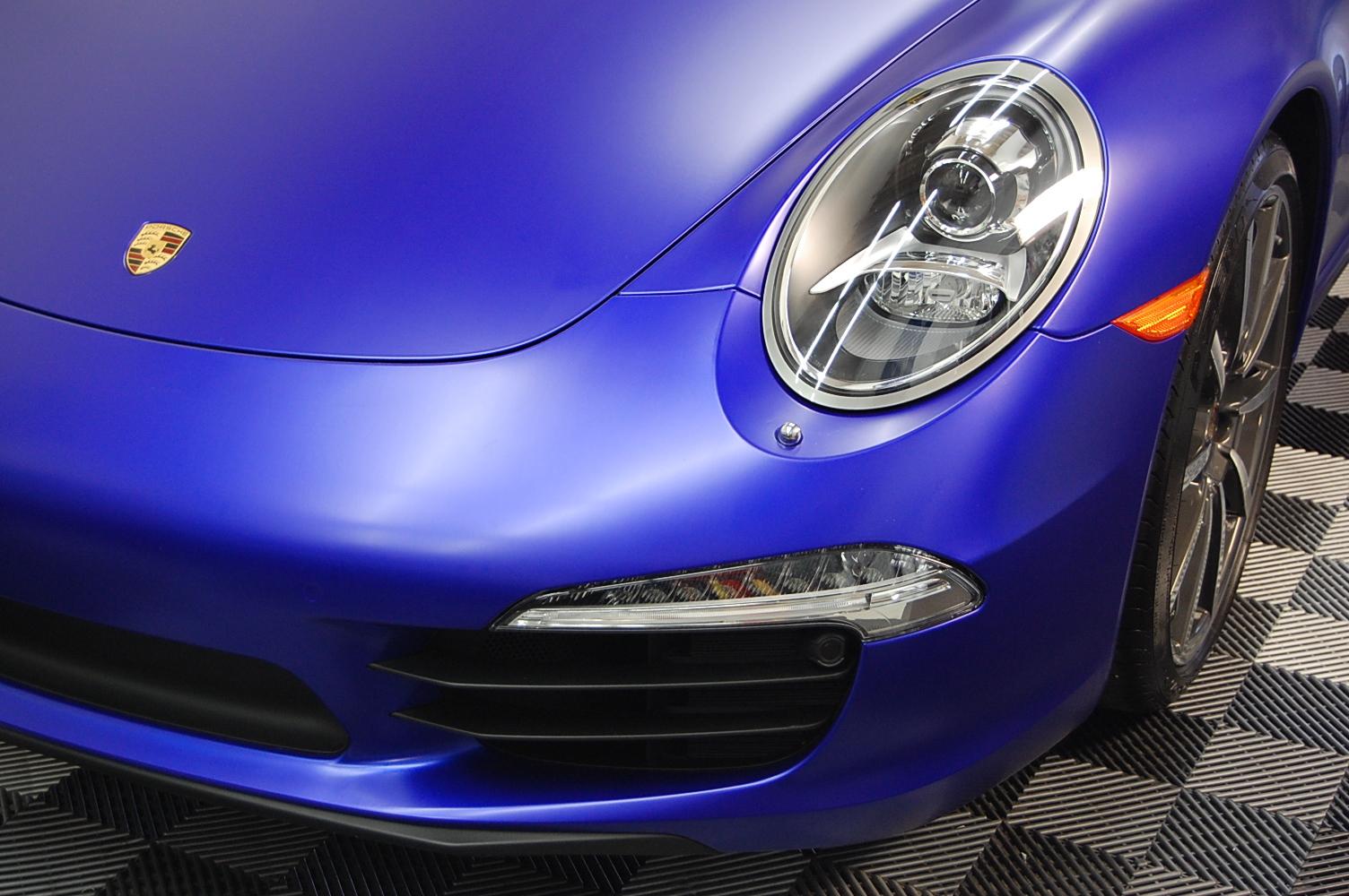 Satin mystique blue car wrap