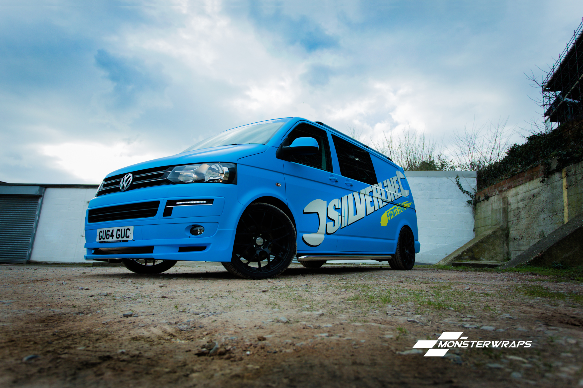 Silverline VW T5 matte blue wrap