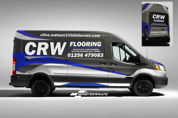CRW Flooring Chrome Reflective van wrap