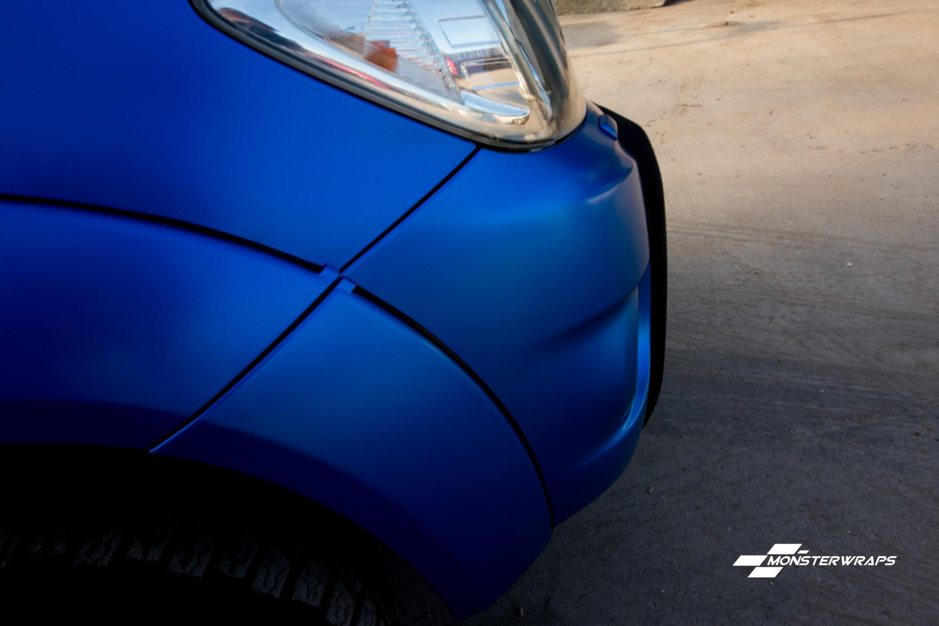 Toyota Hilux Satin Perfect Blue full wrap