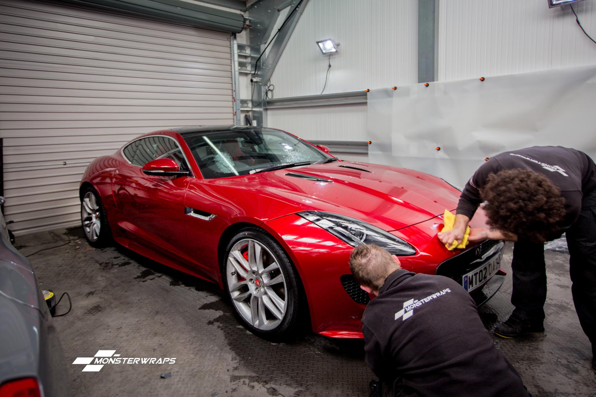 Jaguar F type R clear self healing paint protection wrap