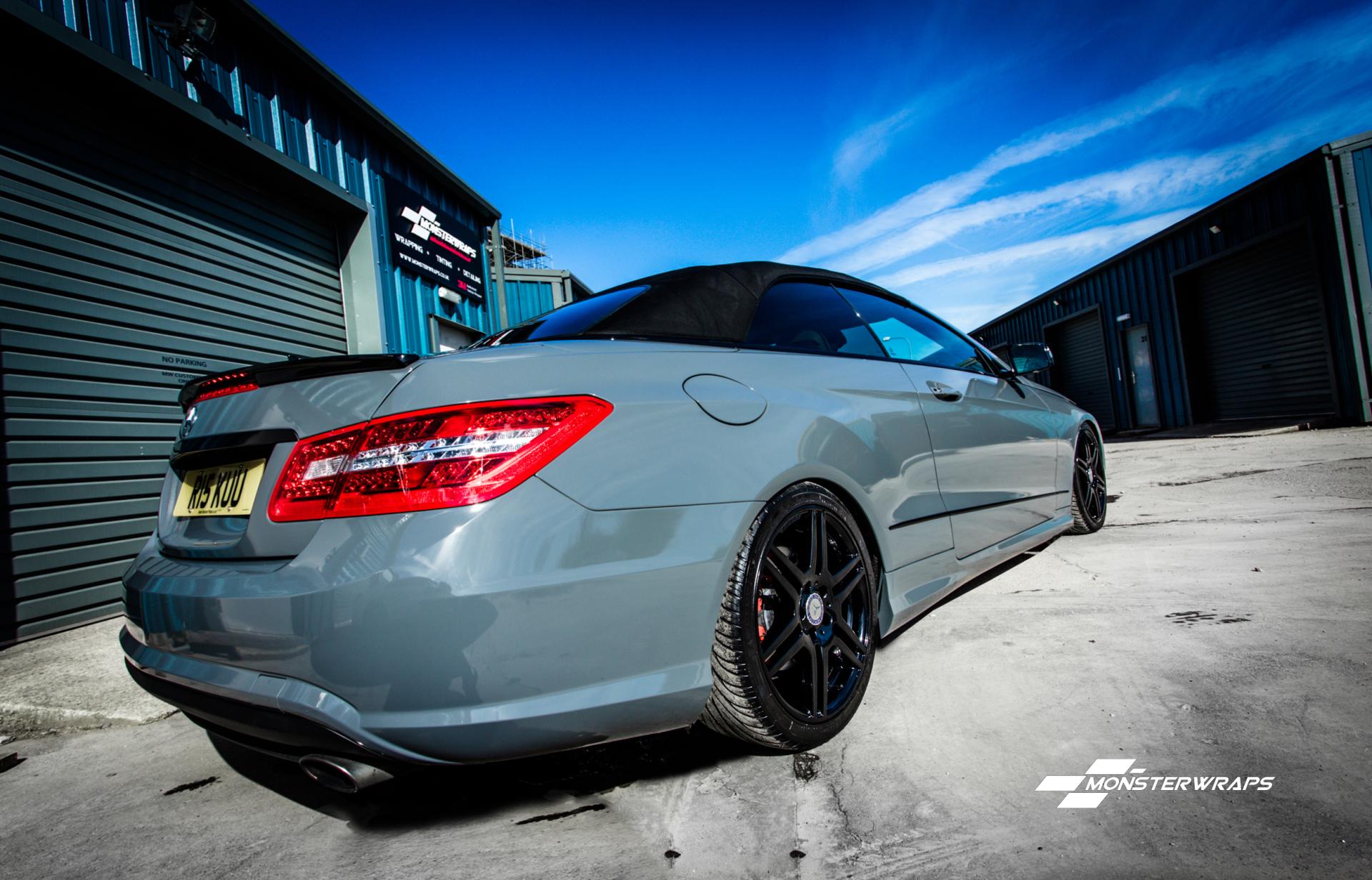 Nardo Grey Mercedes E Class wrap