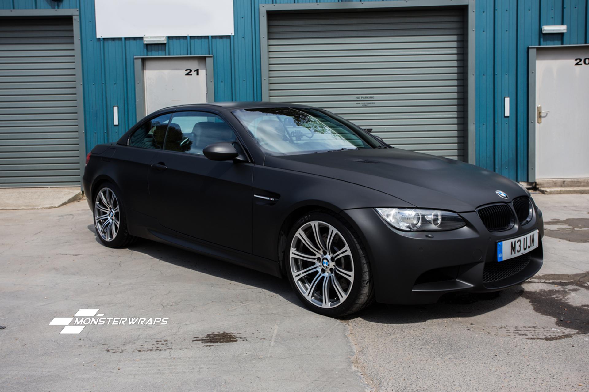 BMW M3 Matte black 3M wrap