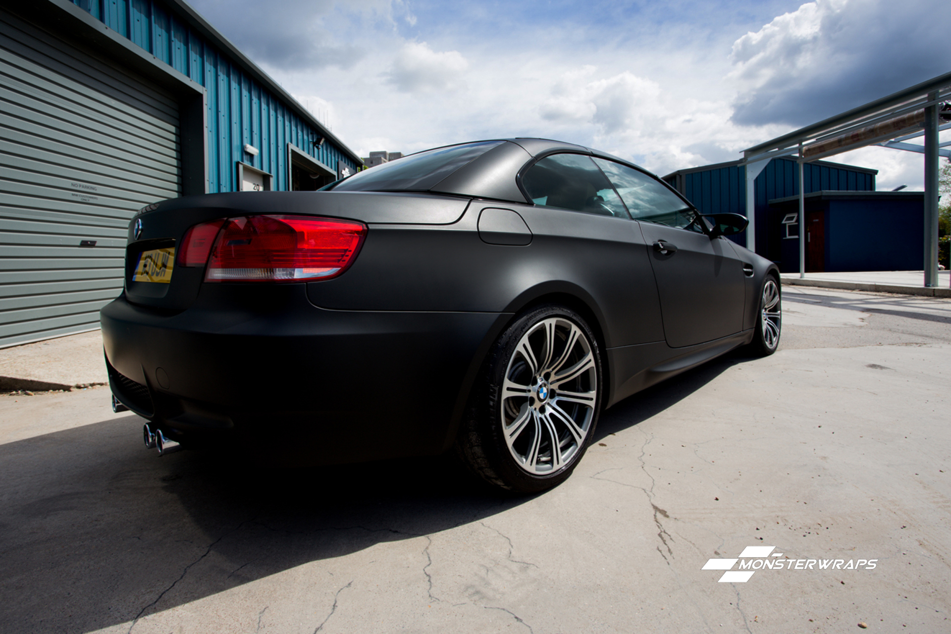 BMW M3 Matte Black wrap