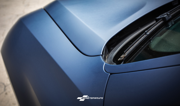 BMW X6 Matte Dark Navy wrap