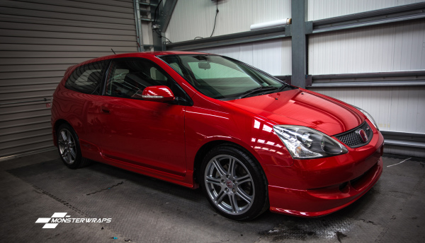 Honda Civic Type R Paint enhancement detail