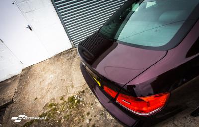 BMW E92 Gloss Black Rose wrap