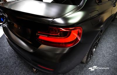 BMW M235 Satin Frozen Black Wrap Ceramic Pro 9H