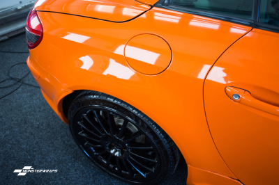 Mercedes SLK AMG Gloss orange wrap